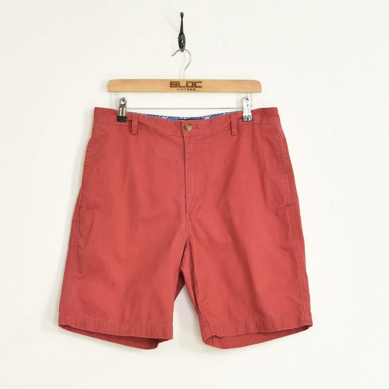 Ralph Lauren Chino Shorts Red Large - BLOC Vintage Clothing