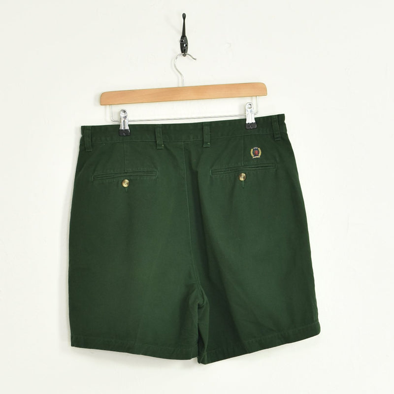 Tommy Hilfiger Chino Shorts Green Large - BLOC Vintage Clothing