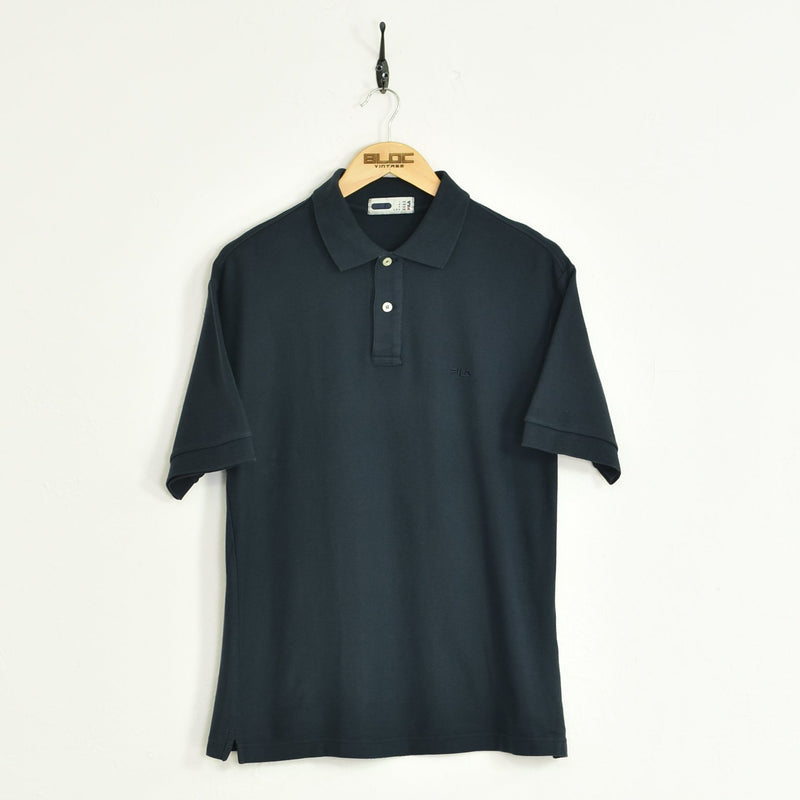 Fila Polo T-Shirt Blue Medium - BLOC Vintage Clothing