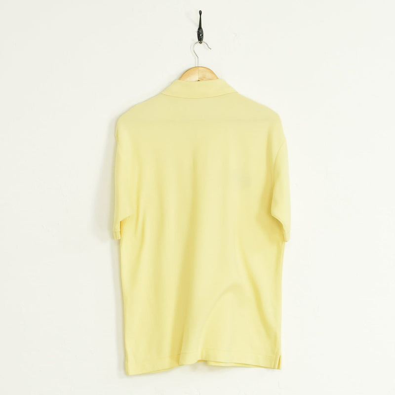 Fila Polo T-Shirt Yellow Large - BLOC Vintage Clothing