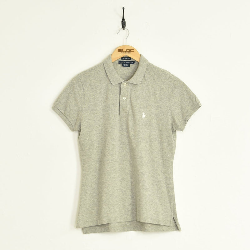 Womens Ralph Lauren Polo T-Shirt Grey XSmall - BLOC Vintage Clothing