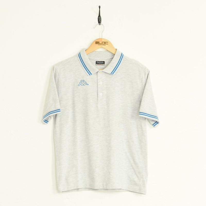Kappa Polo T-Shirt Grey XSmall - BLOC Vintage Clothing