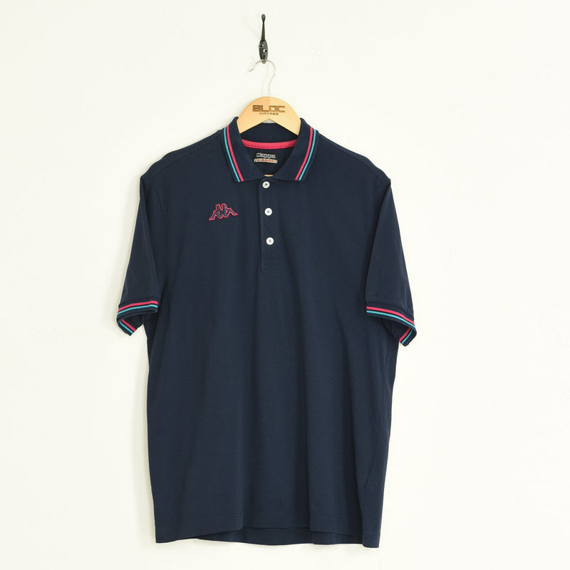 Kappa Polo T-Shirt Blue Large - BLOC Vintage Clothing