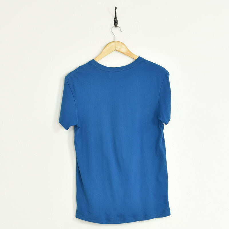 Adidas T-Shirt Blue Small - BLOC Vintage Clothing