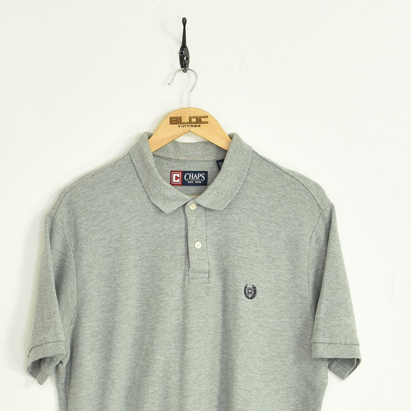 Chaps Ralph Lauren Polo T-Shirt Grey Large - BLOC Vintage Clothing