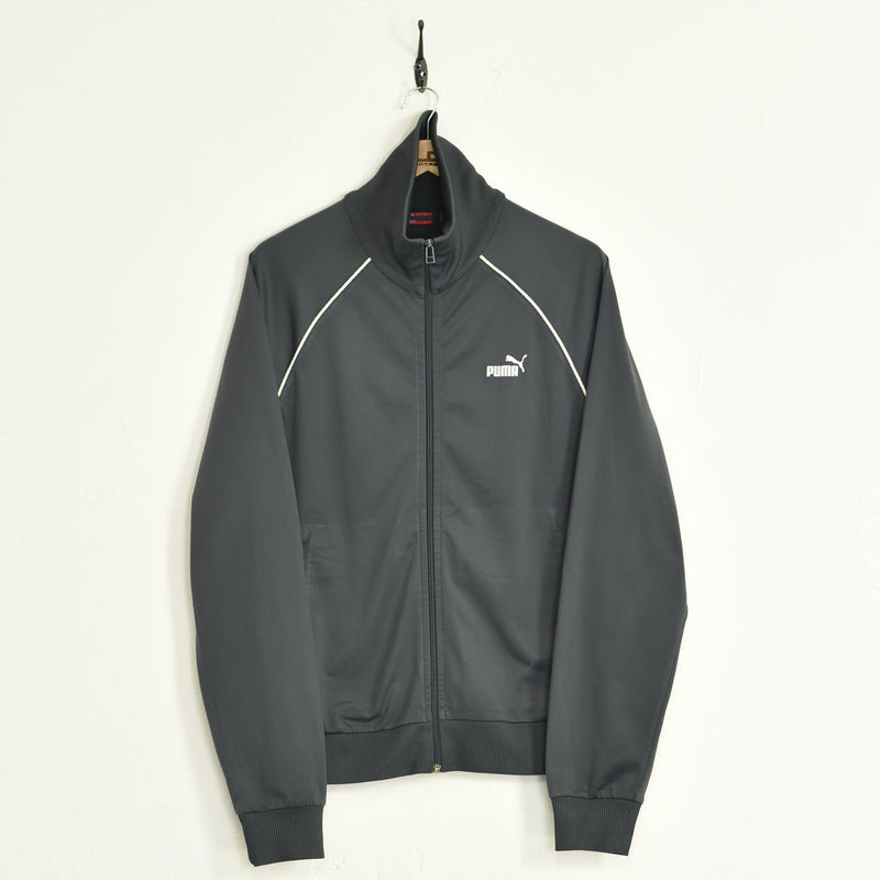 Puma Tracksuit Top Grey Large - BLOC Vintage Clothing