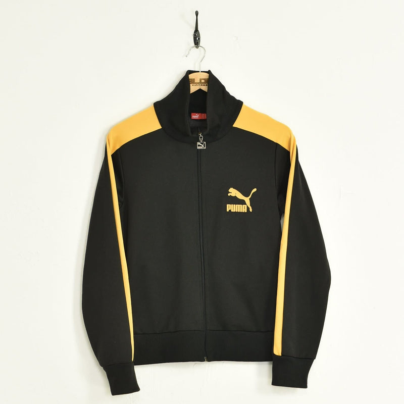 Puma Tracksuit Top Black XSmall - BLOC Vintage Clothing