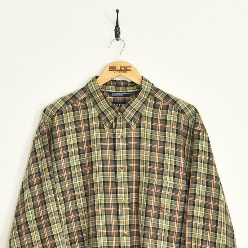 Nautica Shirt Brown XXLarge - BLOC Vintage Clothing