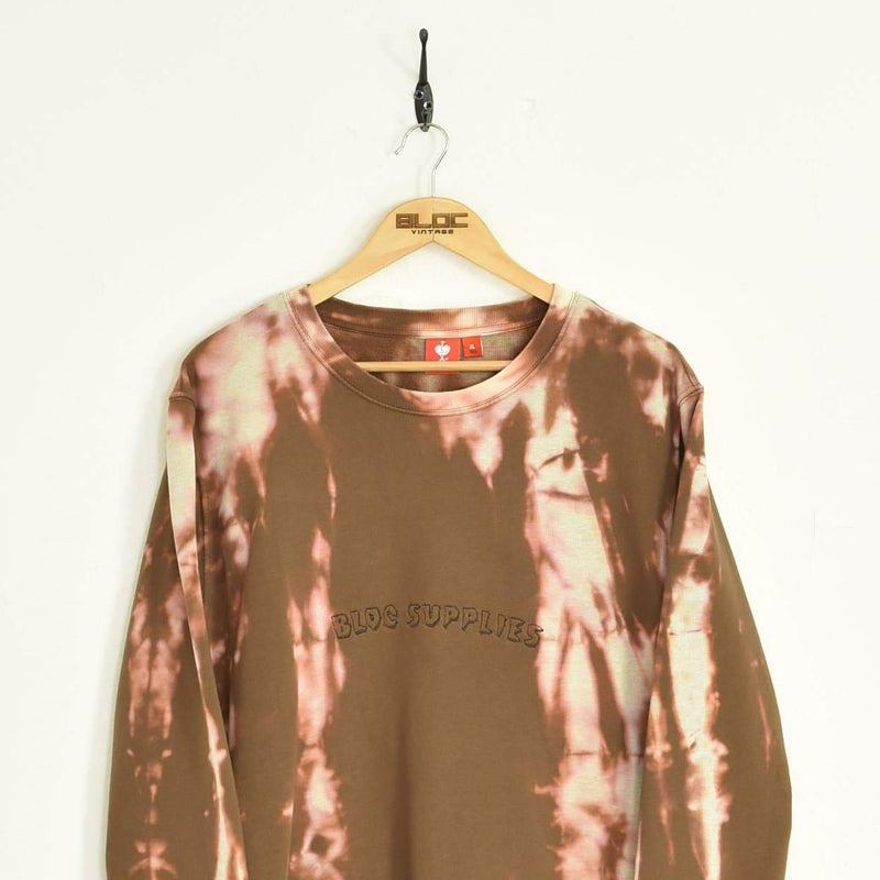 BLOC Supplies Tie-Dye Sweatshirt Brown XXLarge - BLOC Vintage Clothing