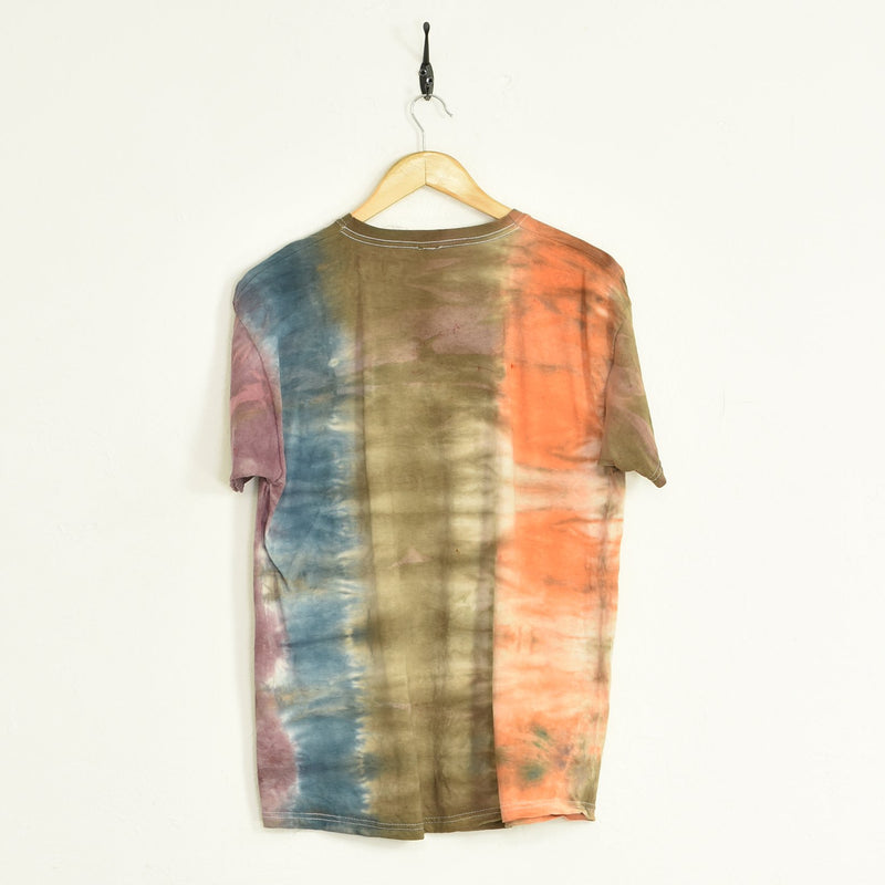 BLOC Supplies Tie-Dye T-Shirt Brown Large - BLOC Vintage Clothing