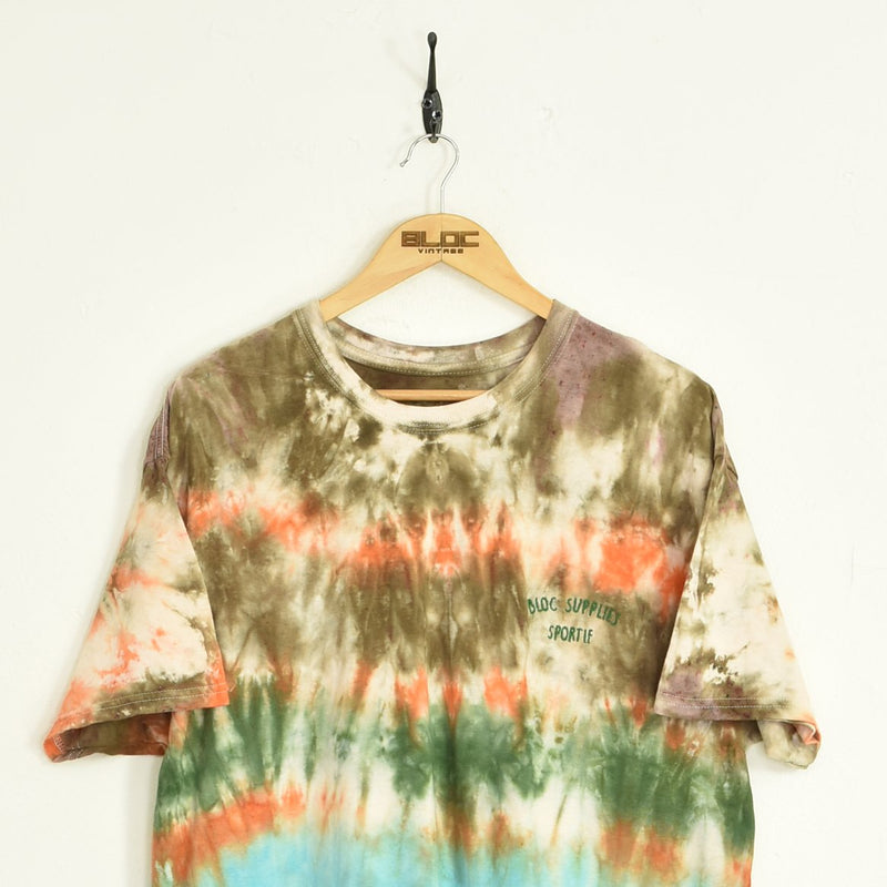 BLOC Supplies Tie-Dye T-Shirt Brown XLarge - BLOC Vintage Clothing