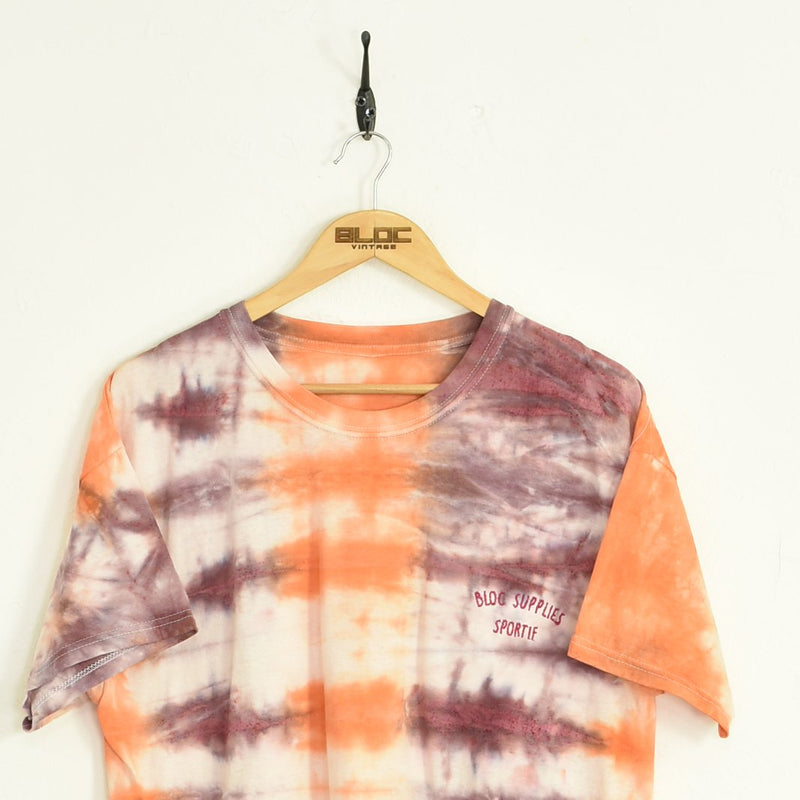 BLOC Supplies Tie-Dye T-Shirt Orange XLarge - BLOC Vintage Clothing