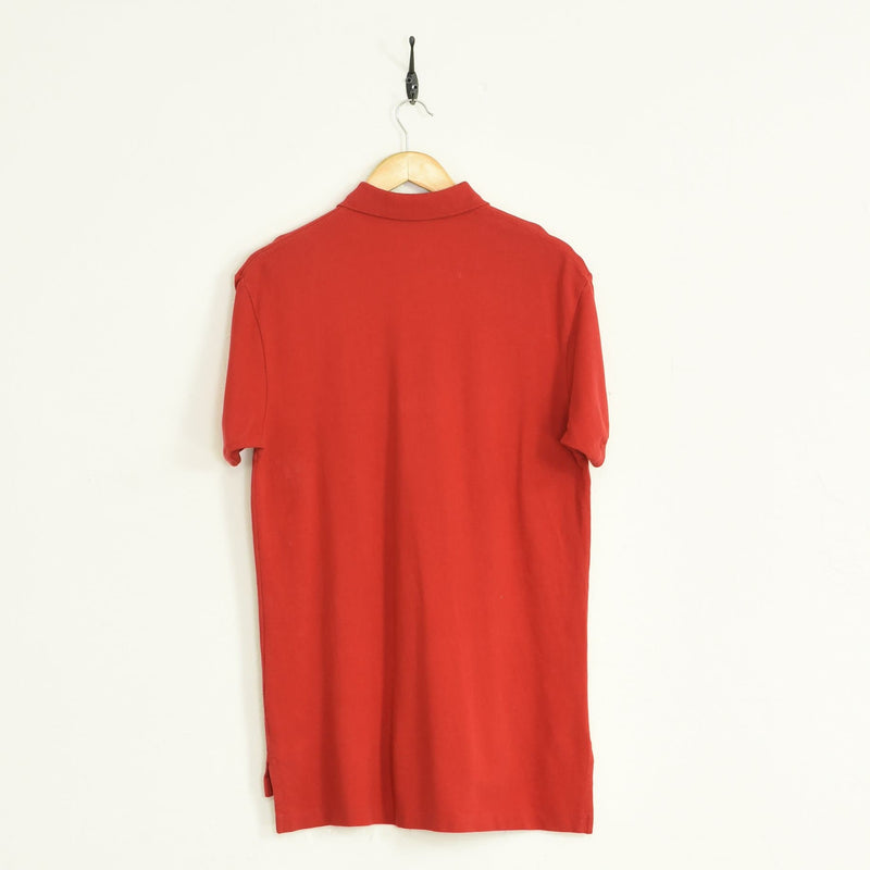 Ralph Lauren Polo T-Shirt Red Large - BLOC Vintage Clothing