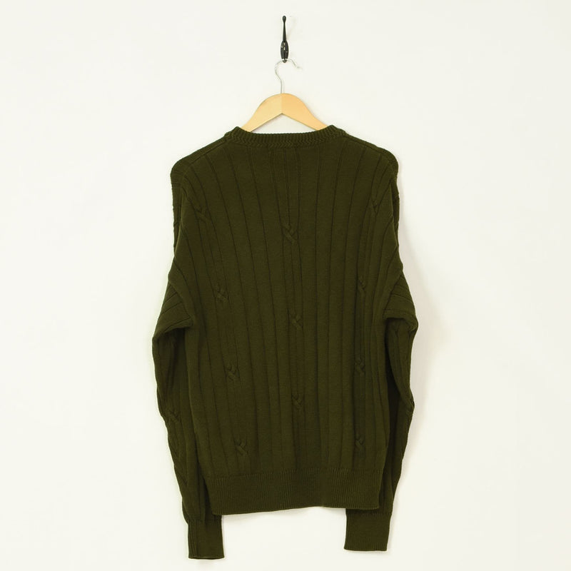 Nautica Sweater Green Medium - BLOC Vintage Clothing