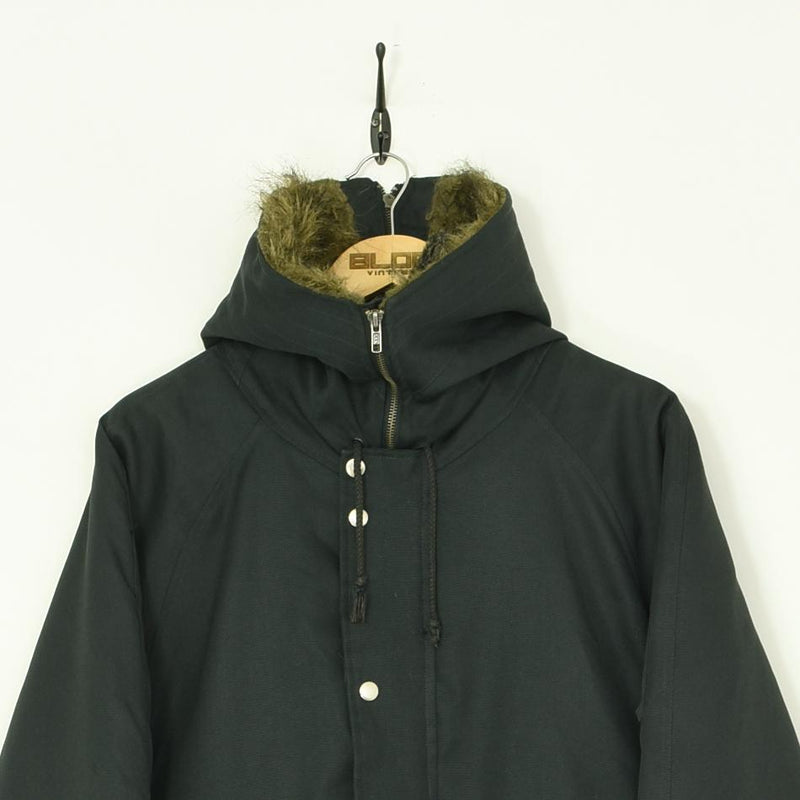 Woolrich Parka Coat Grey Medium - BLOC Vintage Clothing