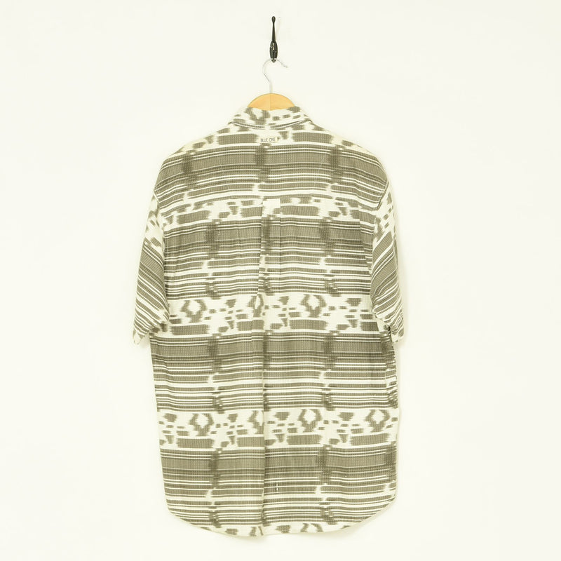 Aztec Shirt Grey Large - BLOC Vintage Clothing
