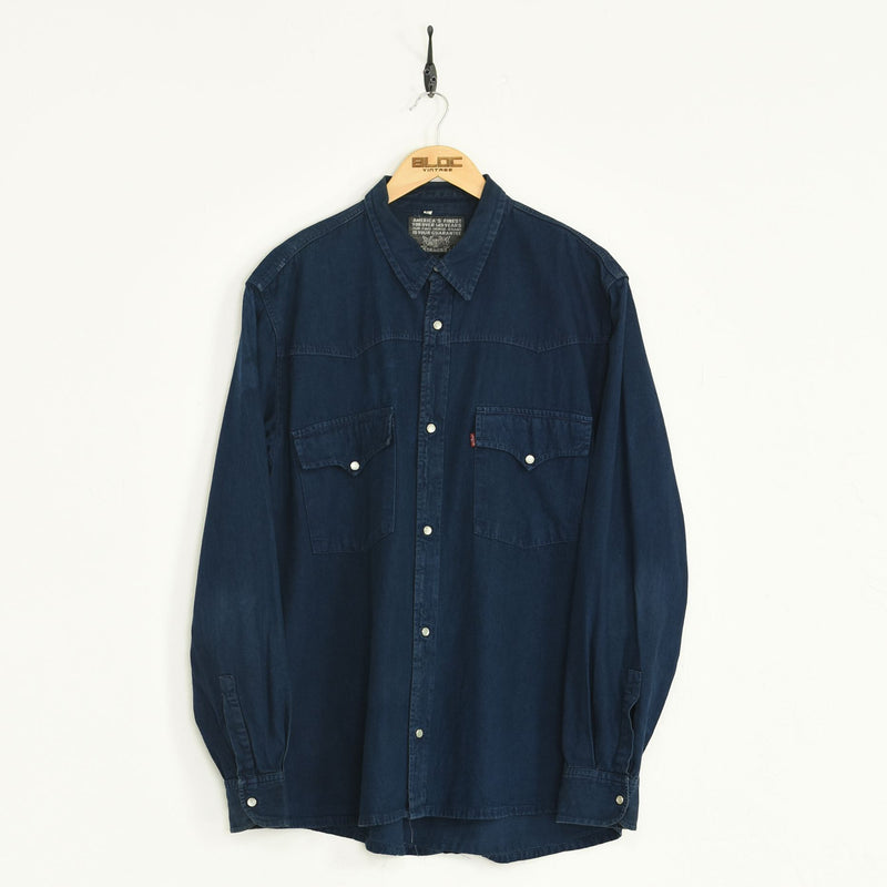 Levis Denim Shirt Blue XXLarge - BLOC Vintage Clothing