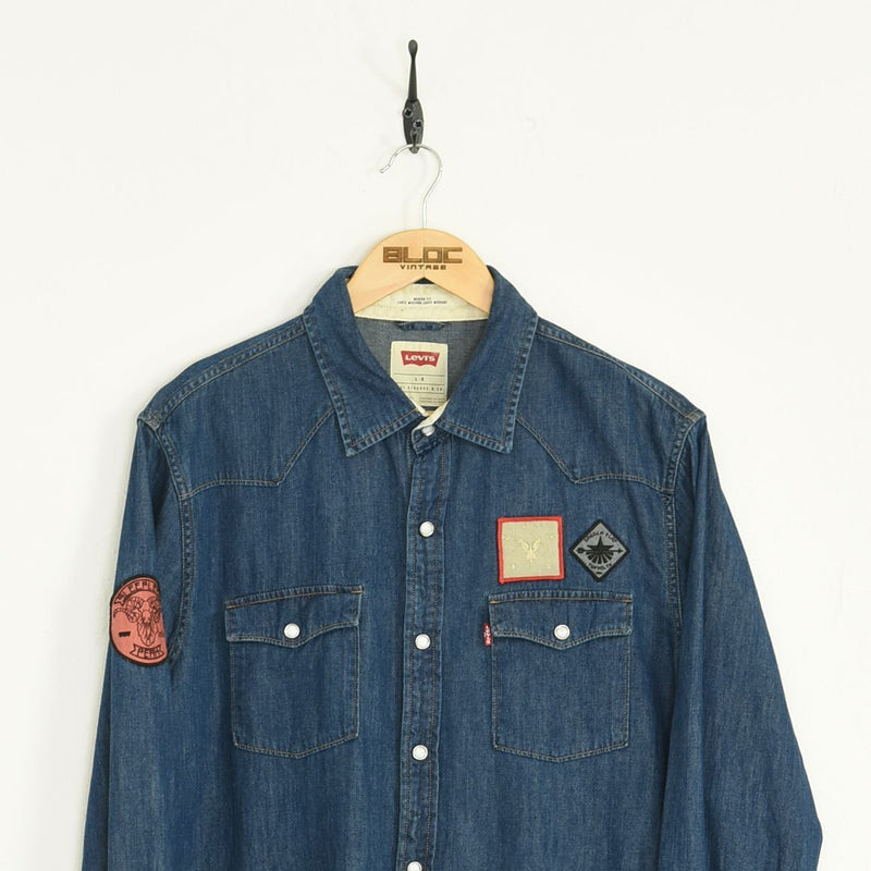 Levis Denim Shirt Blue Large - BLOC Vintage Clothing