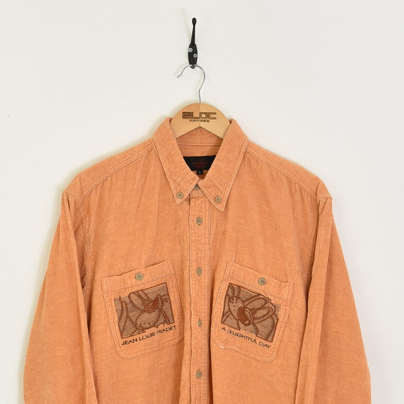 Corduroy Shirt Orange Large - BLOC Vintage Clothing