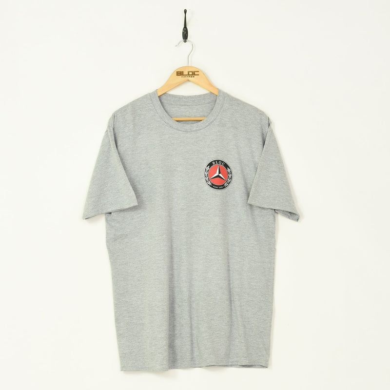 BLOC Supplies 1994 T-Shirt Grey - BLOC Vintage Clothing