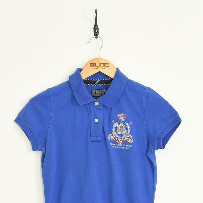 Women's Ralph Lauren Polo T-Shirt Blue XXSmall - BLOC Vintage Clothing