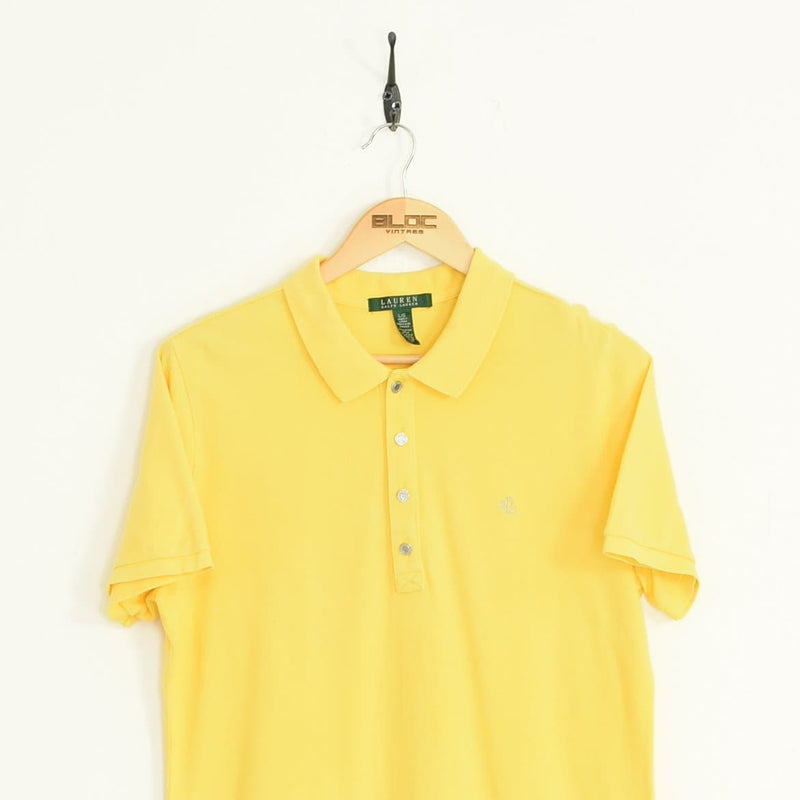 Ralph Lauren Polo T-Shirt Yellow Medium - BLOC Vintage Clothing