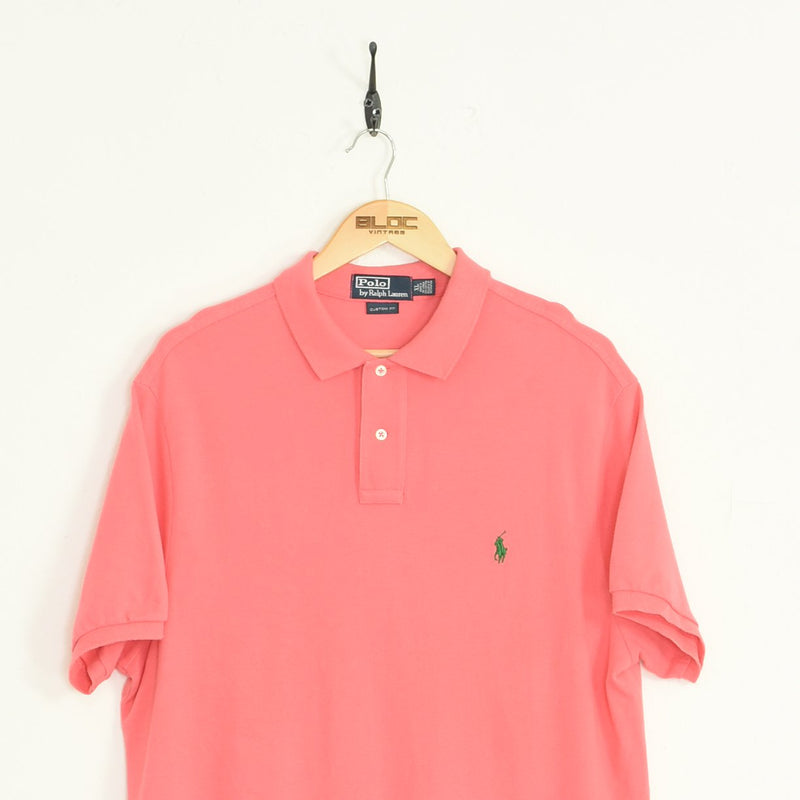 Ralph Lauren Polo T-Shirt Pink XXLarge - BLOC Vintage Clothing