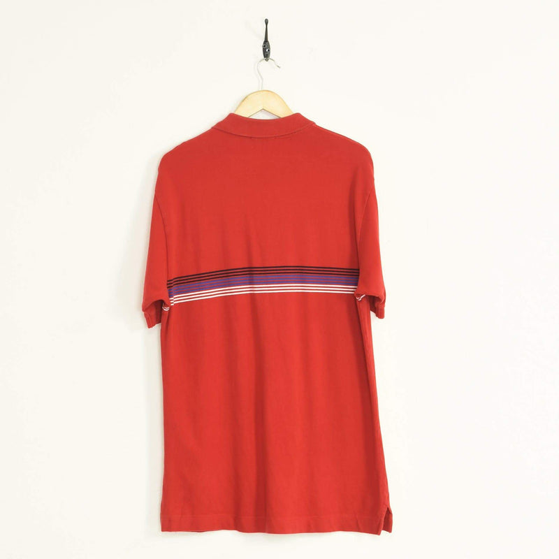 Nautica Polo T-Shirt Red XXLarge - BLOC Vintage Clothing