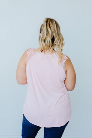 A Little Goes A Long Way Top In Blush