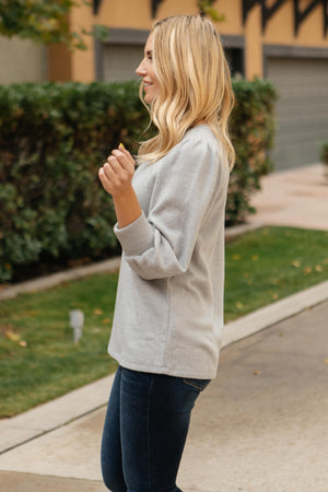 Brushed Knit Bubble Sleeve Blouse