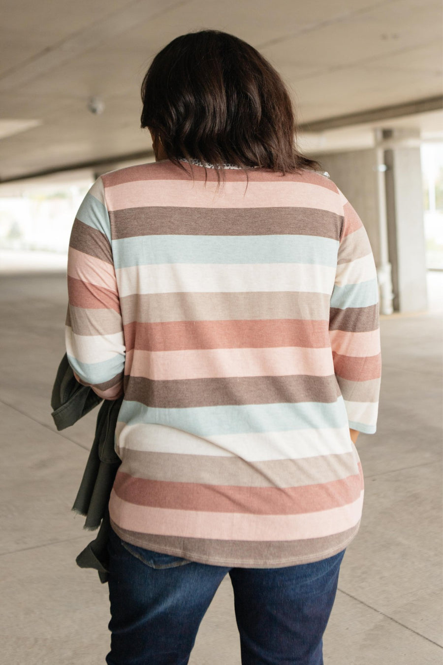 Glimmer Of Autumn Striped Top