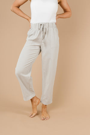 Transitions Cropped Pants In Gray