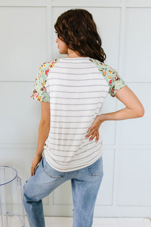 Buttons In The Herb Garden Raglan Top