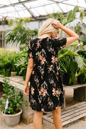 Flowers At Midnight Dress
