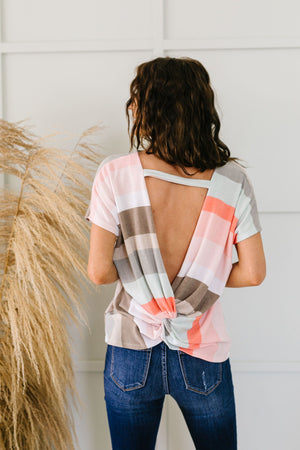 Peachy Back V Top