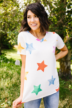 Rainbow Star V-Neck