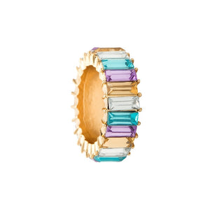 Exquisite CZ Studded Baguette Band