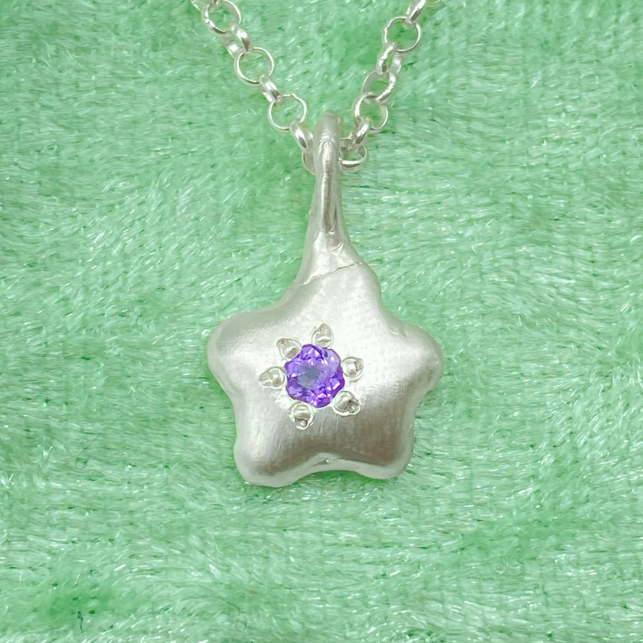 Amethyst Bloom Necklace - Holliegraphic