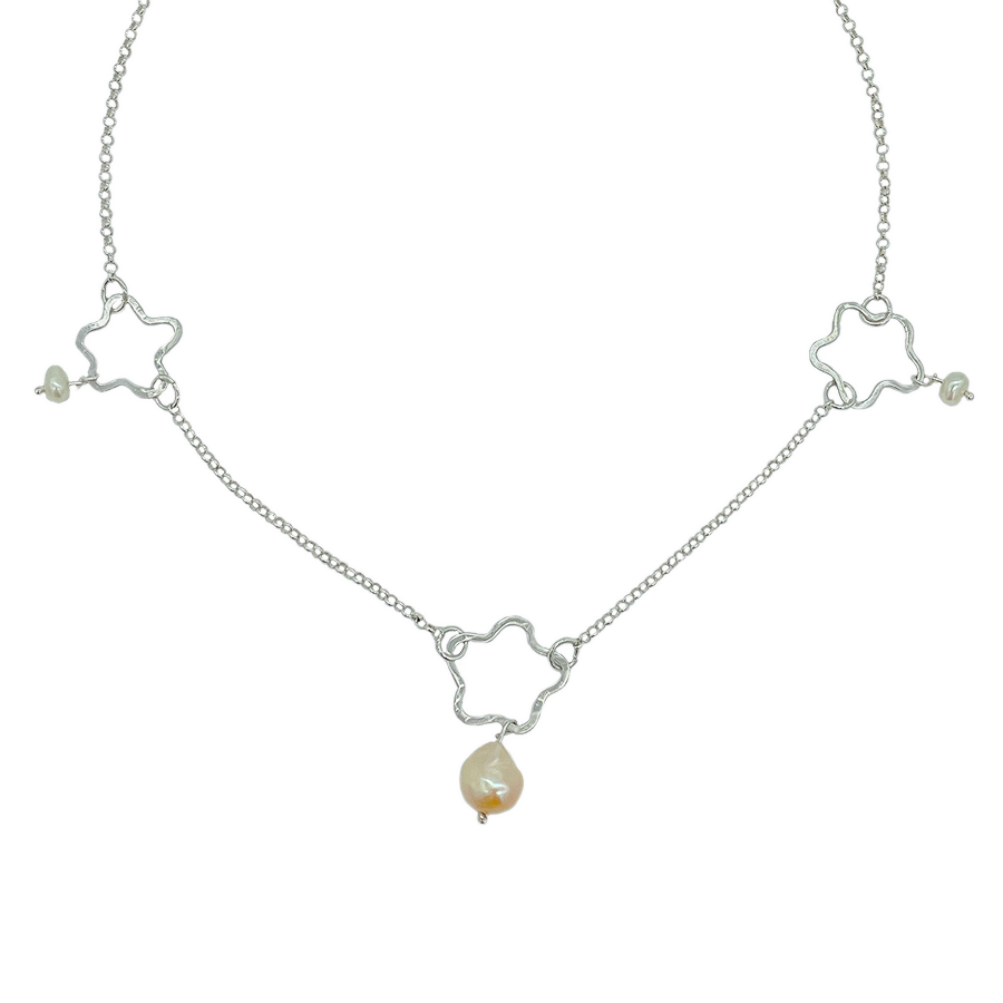 Pearls In Bloom Choker - Holliegraphic