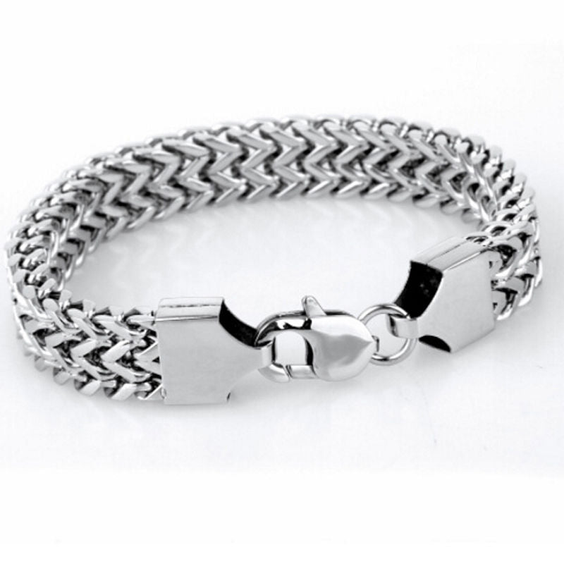 Silver Stainless Steel Men Bracelet