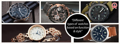 Know About Different Types of Watches based on Function & Style
