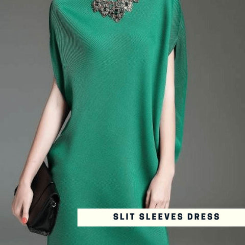 Slit Sleeves Dress