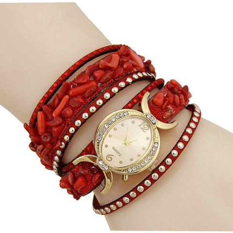 red bracelet watch