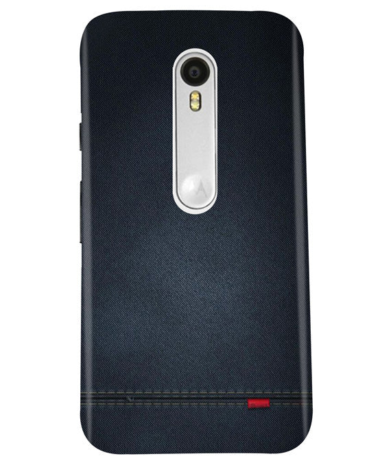 Black Denim Moto G3 Cover