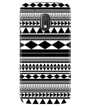 Just Black & White Moto G4 Play Cover