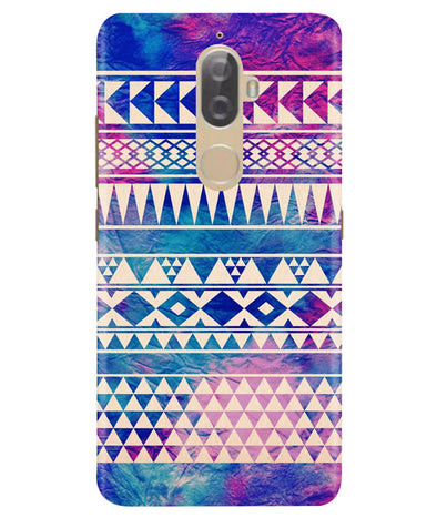 Pattern Lines Lenovo K8 Plus Cover