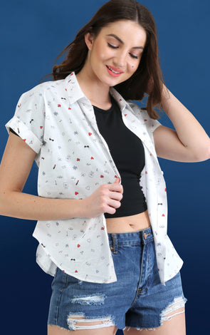 print white shirt for summer