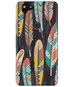 Colorful Feathers Google Pixel 2 Cover