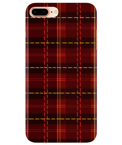 Check Fabric iPhONE 8Plus Cover