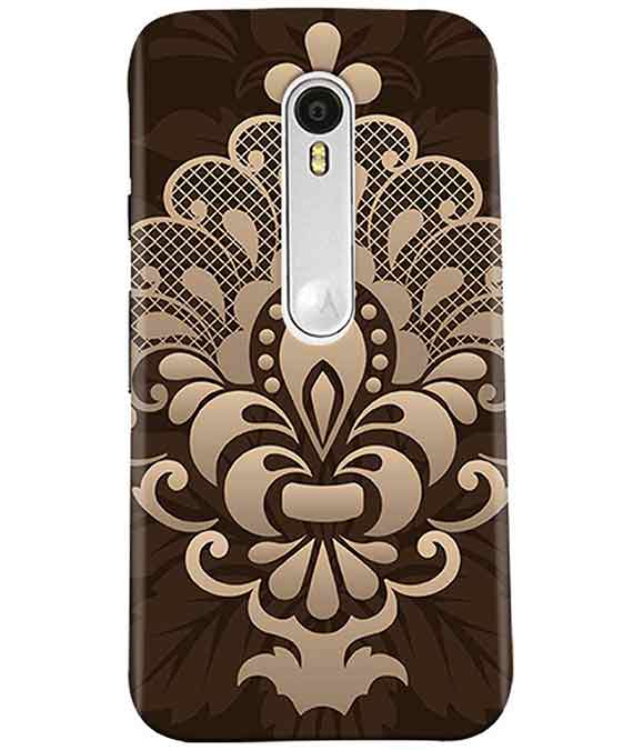 Brown Damask Moto G3 Cover